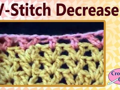 Crochet Stitch Tips V Stitch Decrease