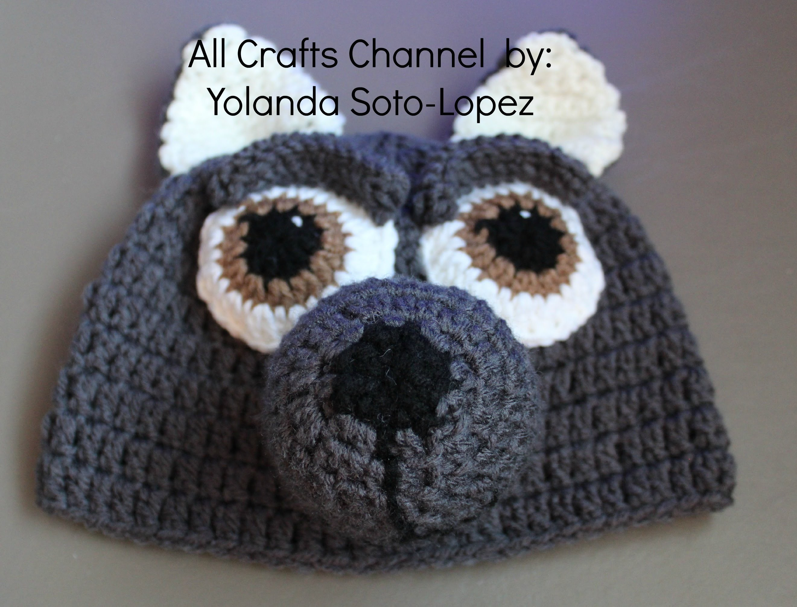 #Crochet wolf beanie -  video three (Final)