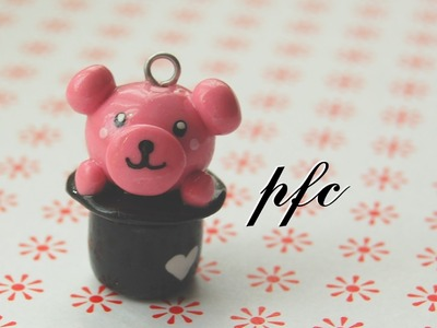 DIY Bear in a Top Hat Polymer Clay Charm Tutorial