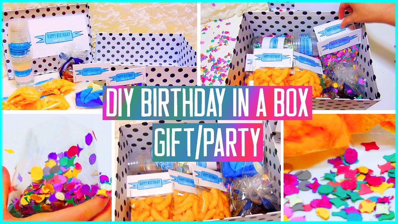 DIY Birthday in a box! Throw a mini party for your friend! Gift idea