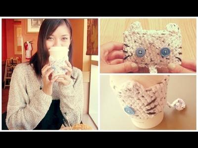 DIY ✂ Crochet Cat Cup Cozy | enchantelle