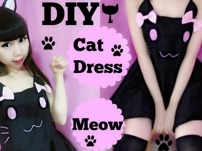 DIY Cutie Cat Summer Dress(Easy) Meow~Meow~