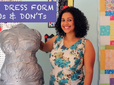 DIY Duct Tape Dress Form DOs & DON'Ts & GIVEAWAY!