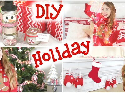 DIY Holiday Room Decorations, Sweater, & Gifts!