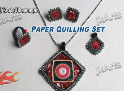 DIY How to make Paper Quilling Jewelry Set - JK Arts 382