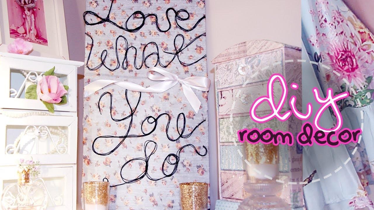 DIY Room Decor ✿ Easy Custom Quote Canvas Art