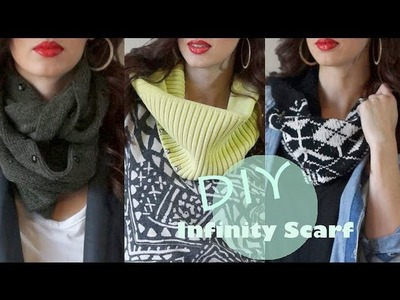 EASY DIY Infinity Scarf!!! (NO SEW)