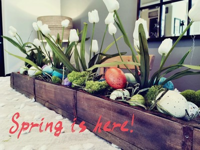 Easy How to DIY Easter table centerpiece decor!