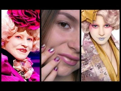 Effie Trinket: Ombre Nails & Lips! Easy DIY Halloween Costume!