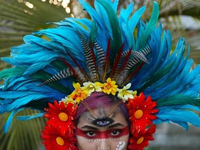 Feather. Flower Headdress ♥ DIY