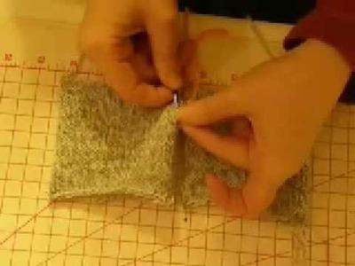 Finishing for Stocking Stitch