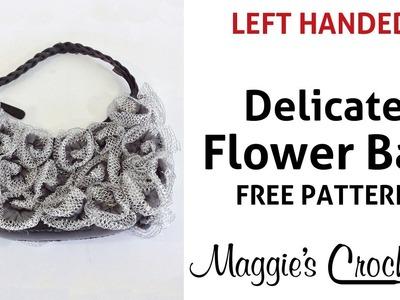Flower Bag Starbella Lace Free Crochet Pattern - Left Handed