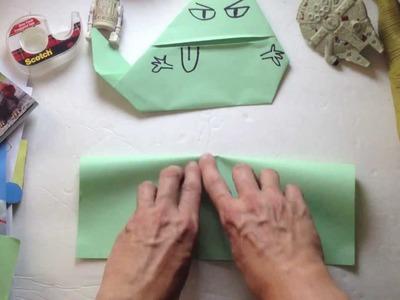 Folding Jabba the Puppett with Tom Angleberger