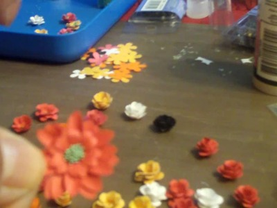 Four types of handmade flowers - tutorial