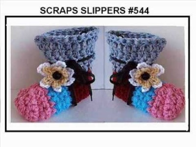 FREE PDF CROCHET PATTERN, # 544 SCRAPS SLIPPERS PATTERN expires Dec  31, 2013