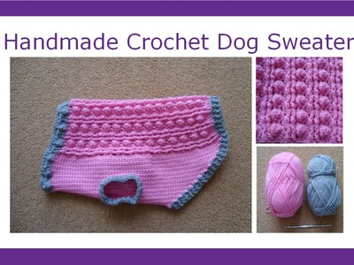 Handmade Crochet Dog Sweater