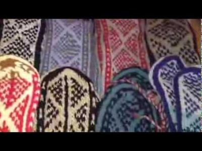 Hippie Clothes Bohemian Clothing Handmade Knit PAKISTAN Wool Blend Mukluks Slippers Socks Boots