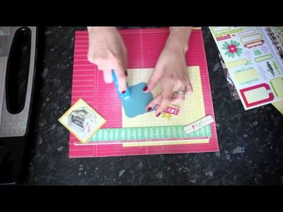 Hot Pink Hoopla (Scrapbook Page Tutorial featuring Cosmo Cricket Upcycle)
