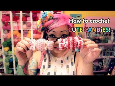 How to Crochet a Cute Candy Ornament or Hair Clip!