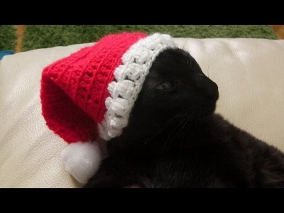 How to crochet a Santa hat for lefties