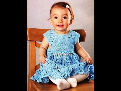 How to crochet baby girl dress free pattern tutorial