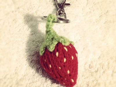 How to Knit Short Rows, Make Loop: Strawberry Keychain