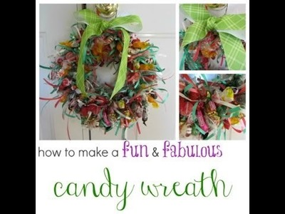 How to make a candy wreath :: kid crafts :: teachmama.com