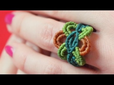 How to Make a Colorful Macrame Ring - Knotting Tutorial [DIY]