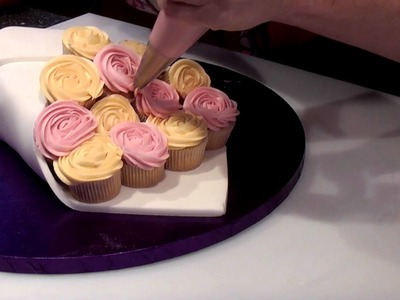 How To Make A Rose Cupcake Bouquet - Cake Craft World Video 7