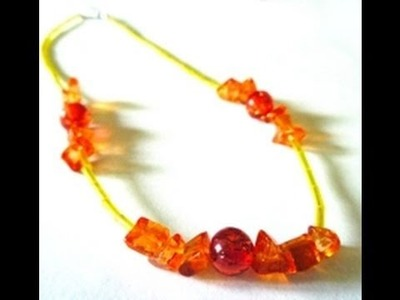 How to Make a Sunset Inspired Necklace - Jewelry-making Tutorial