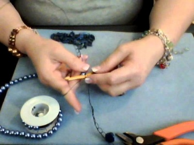 How to Make a Wire Crochet Necklace Part 5