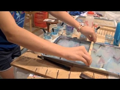 How to marble paper: step by step