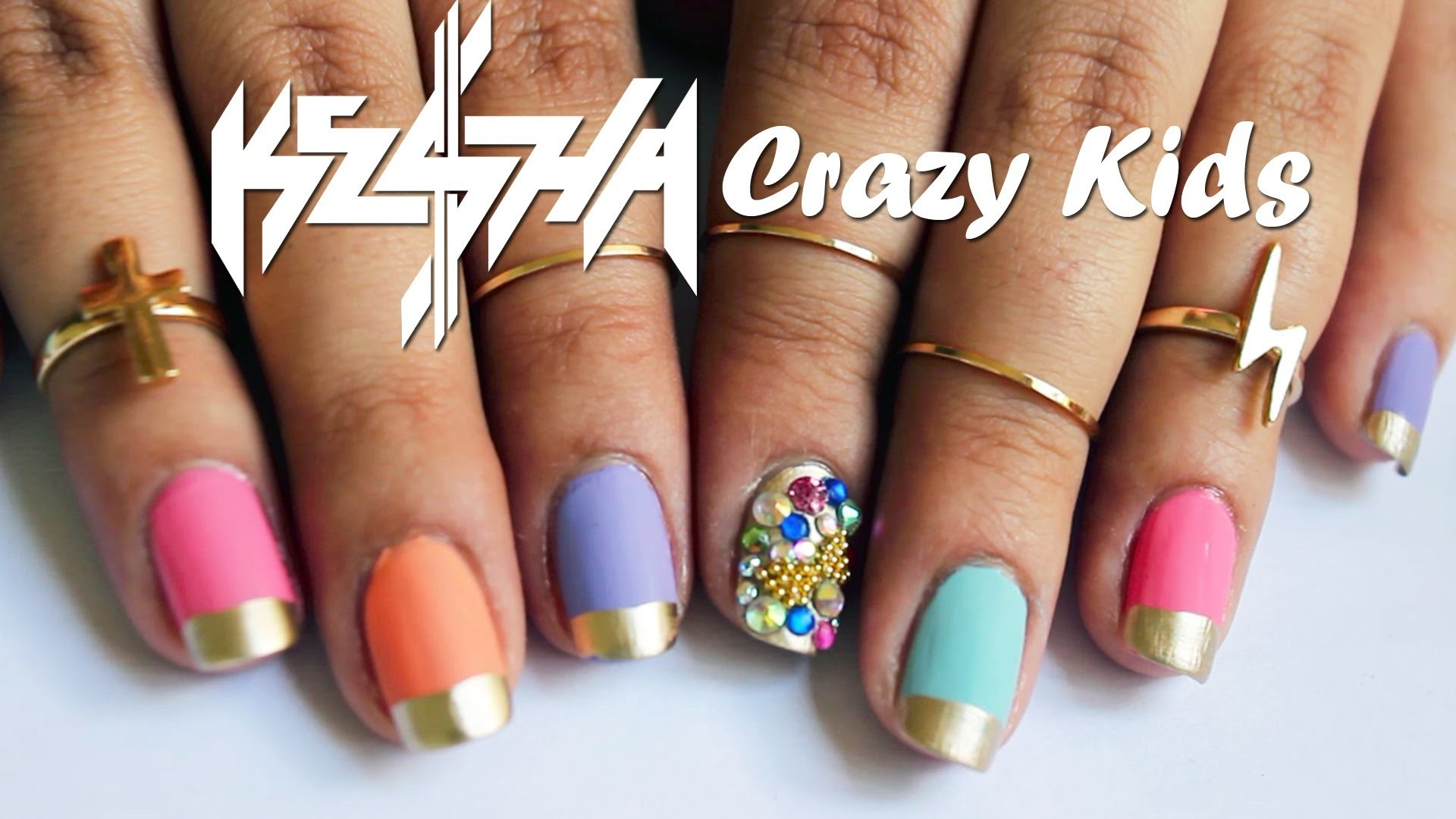 Ke$ha Crazy Kids Nails ♥ Tutorial