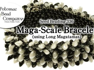 Maga-scale Bracelet (With Miyuki Long Magatamas)