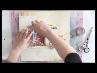 Making a scrapbooking layout - Prima BAP 2013