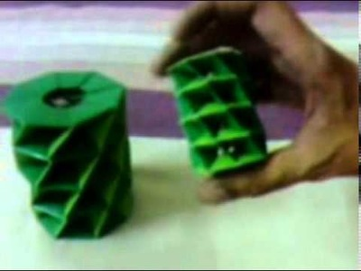 (NAVEED) Origami Twisted Tower Big And Small In Size