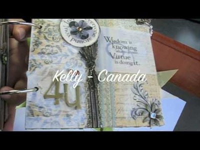 PT 2~Scrapbooking MEGA MINI Album! *SURPRISE* Happy Birthday MARION @ A Piece of Craft