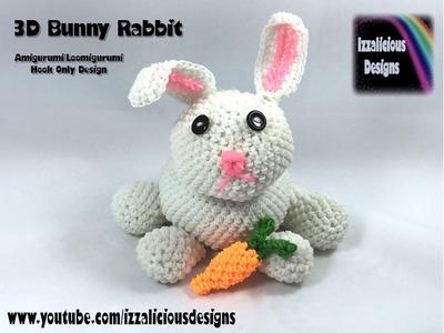 Rainbow Loom 3D Bunny Rabbit (Easter) Amigurumi.Loomigurumi Crochet Hook Only (loomless)