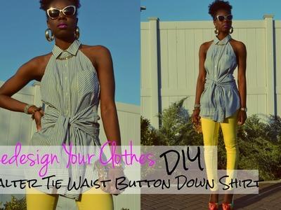 (RYC) 5: DIY Halter Tie Waist Button Down Shirt