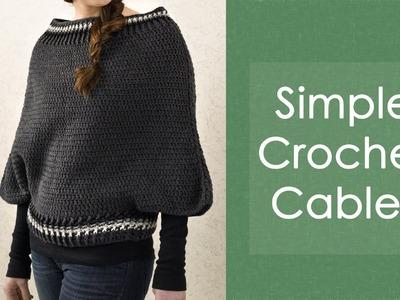 Simple Crochet Cables