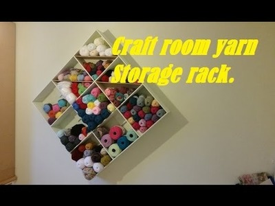 Simple painted project: Craft room yarn storage rack.