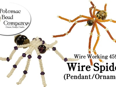 Wire Working 459 - Wire Spider Pendant or Ornament