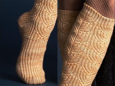 #1 Brioche Socks, Vogue Knitting Early Fall 2011