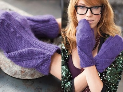#23 Lily Patterned Mittens, Vogue Knitting Winter 2011.12