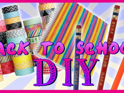 Back To School DIY ~ Make Your Own School Supplies!