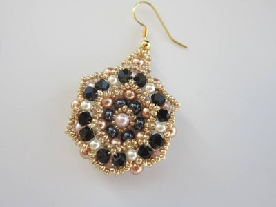 Beaded Earrings with round beads