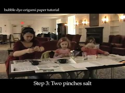 Bubble Dye Origami Paper Tutorial