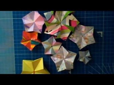 Como dobrar: Origami Estrela Modular Part 1of 2 [Portuguese]