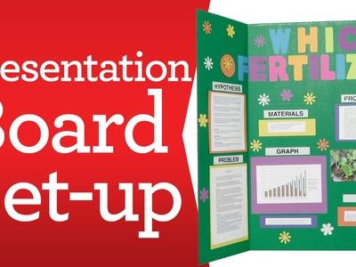 Crafting for Kids:  Presentation Board Set Up