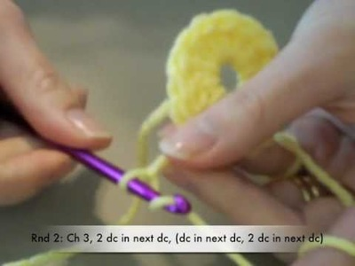 Crochet Rae's Tutorials: Octagon Star Motif 1 of 3